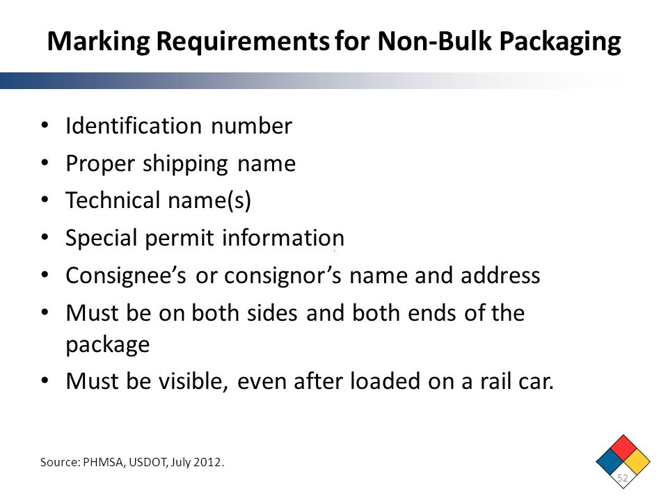 Marking Requirements for Non-Bulk Packaging