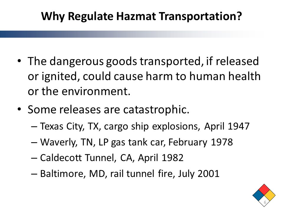 Why Regulate Hazmat Transportation