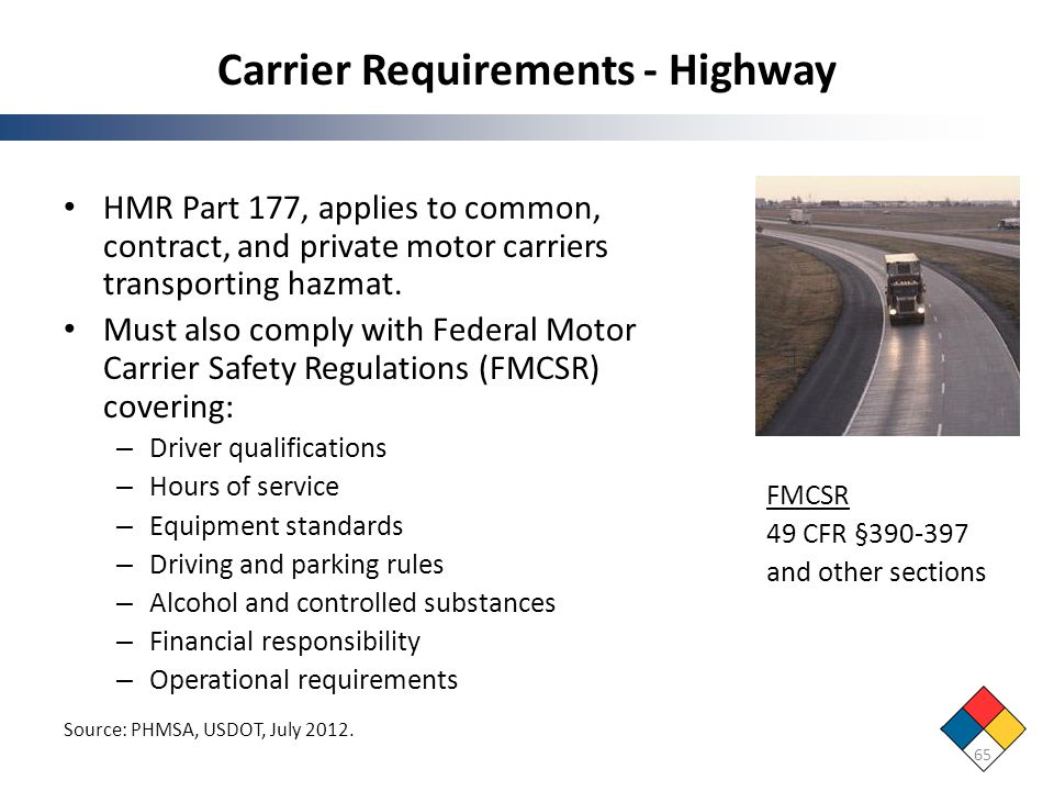 Carrier Requirements - Highway