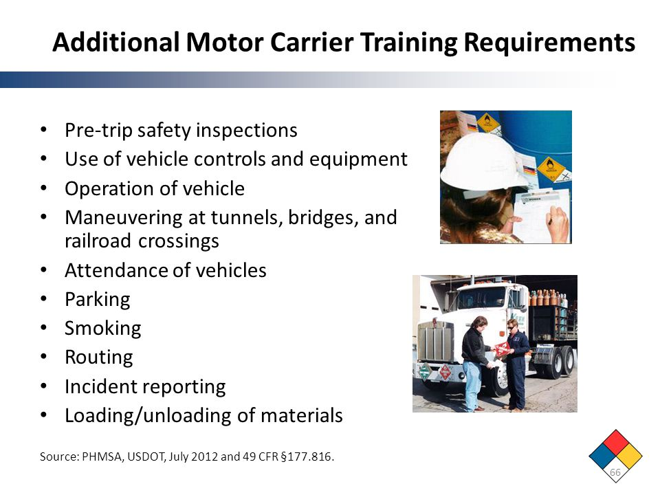 Additional Motor Carrier Training Requirements