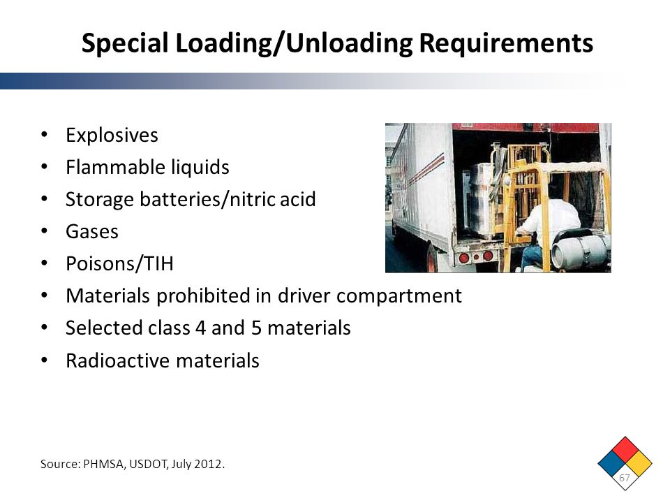 Special Loading/Unloading Requirements
