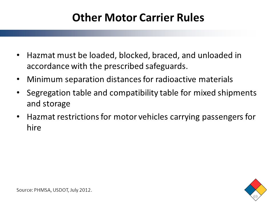 Other Motor Carrier Rules