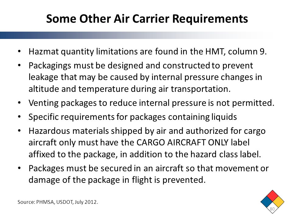 Some Other Air Carrier Requirements