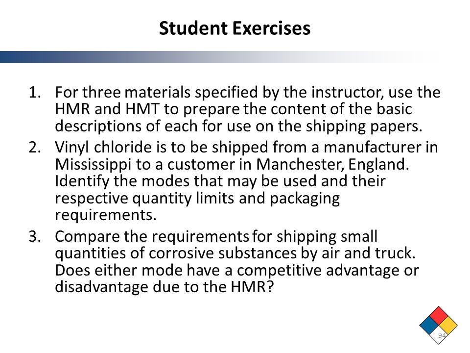 Student Exercises