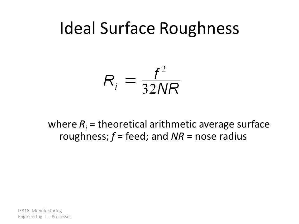 Ideal Surface Roughness