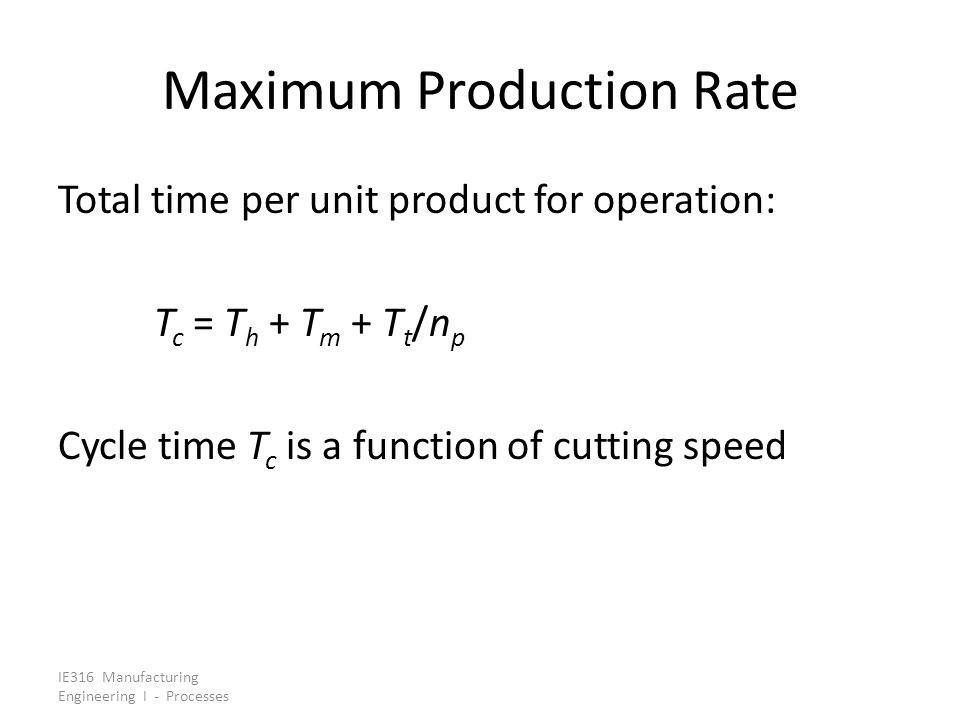 Maximum Production Rate