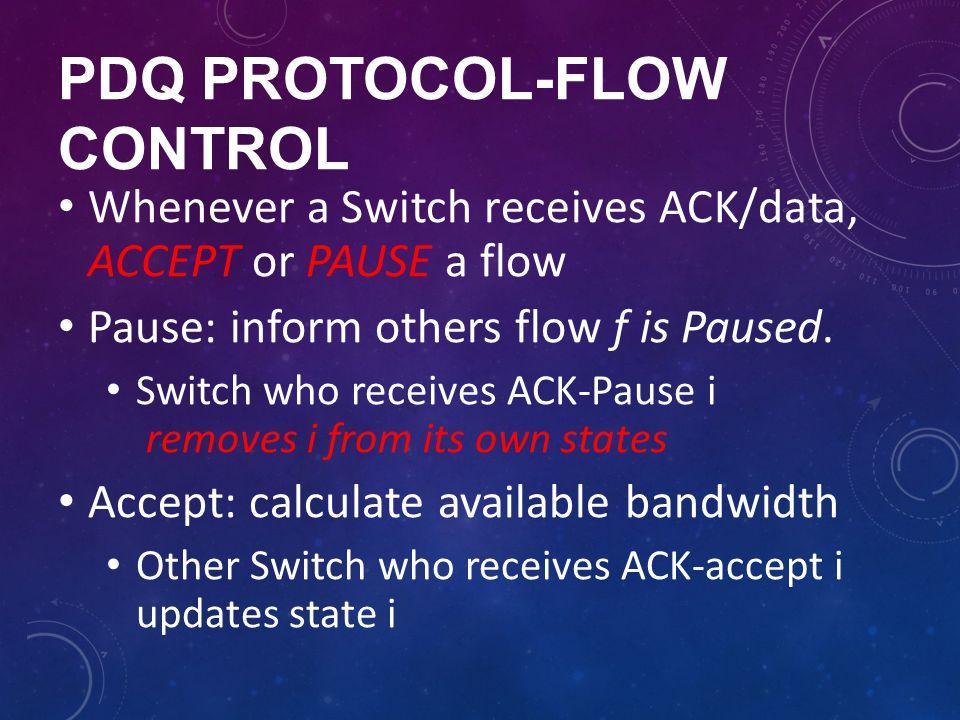 pdq protocol-FLOW Control