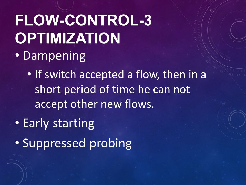 Flow-control-3 optimization
