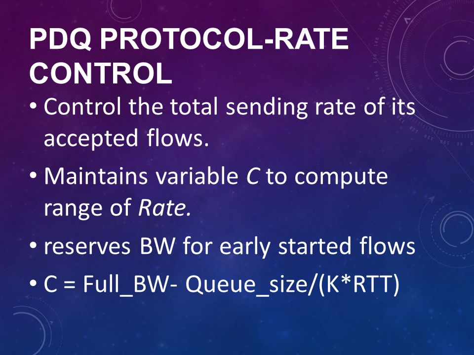 pdq protocol-rate control