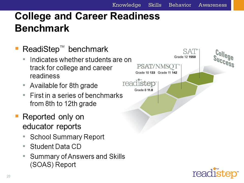 College and Career Readiness Benchmark