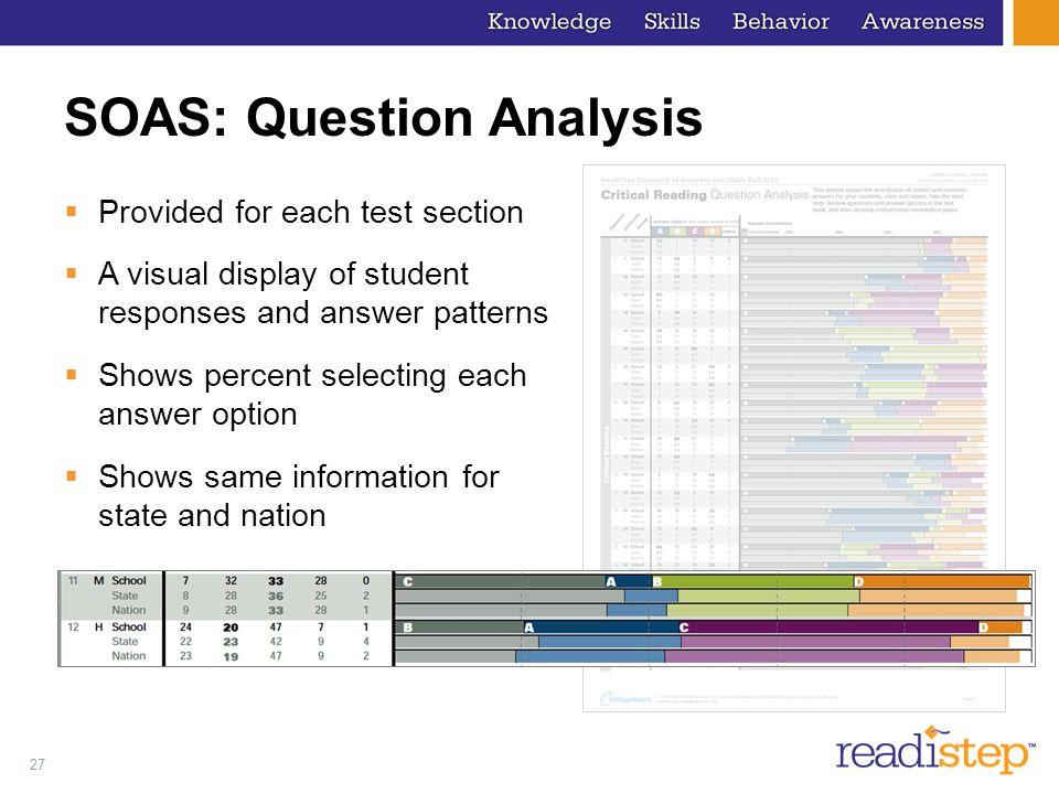 SOAS: Question Analysis