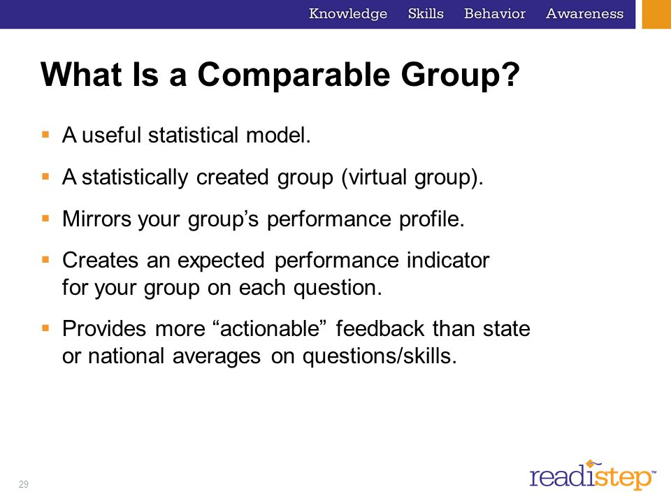 What Is a Comparable Group