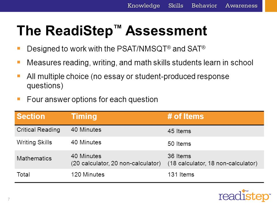 The ReadiStep™ Assessment