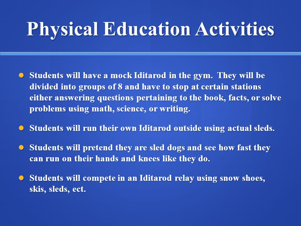 Physical Education Activities