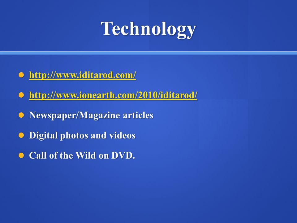 Technology http://www.iditarod.com/