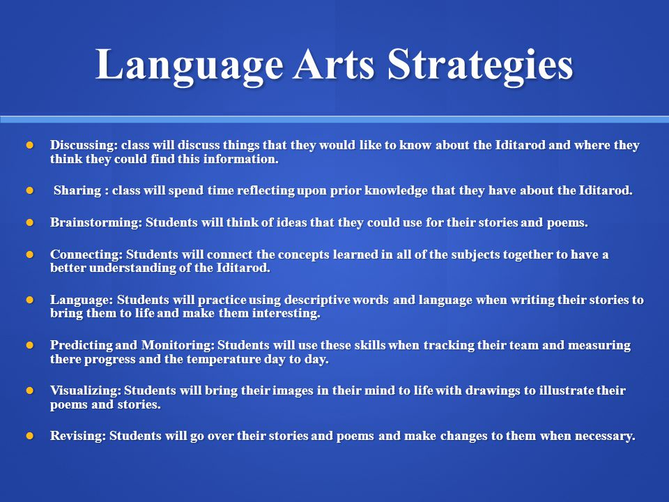 Language Arts Strategies
