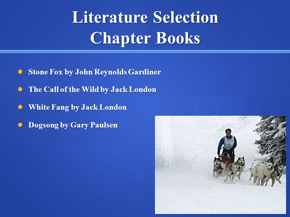 Literature Selection Chapter Books