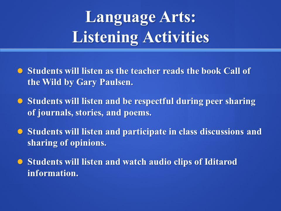 Language Arts: Listening Activities