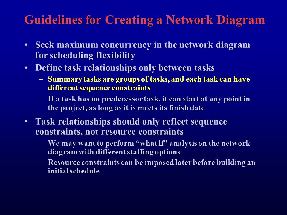 Guidelines for Creating a Network Diagram