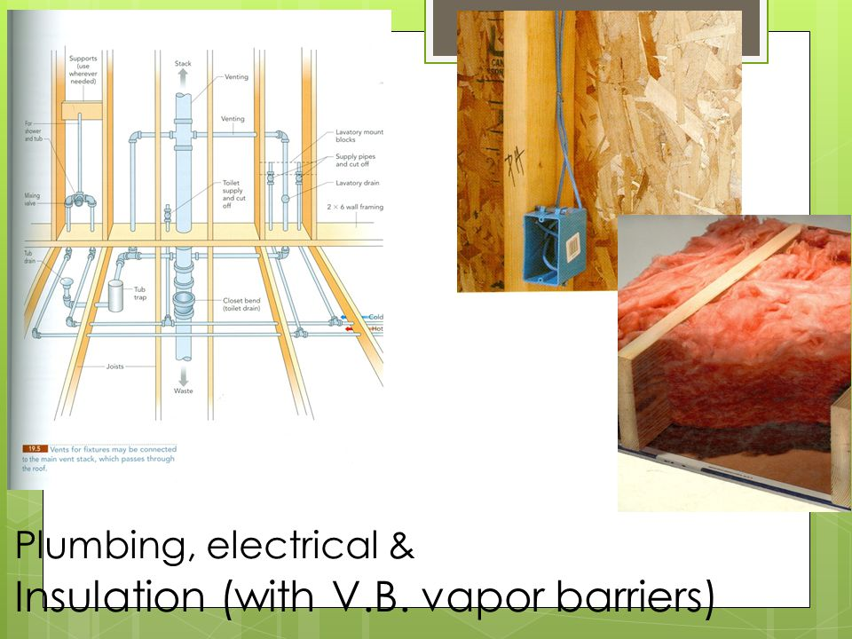 Insulation (with V.B. vapor barriers)