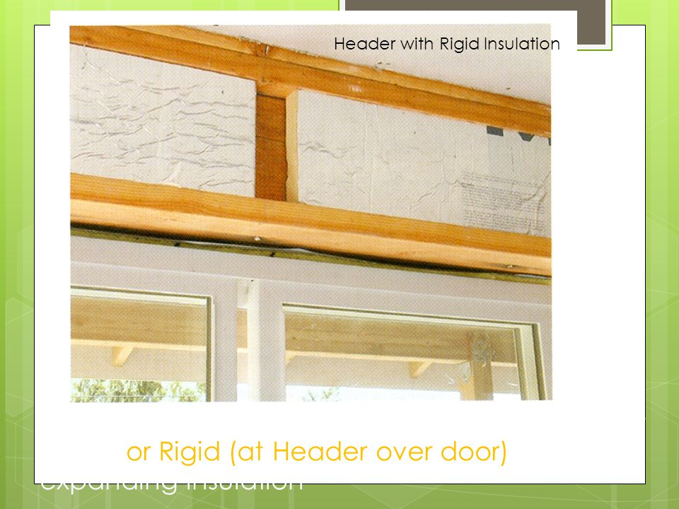 Header with Rigid Insulation