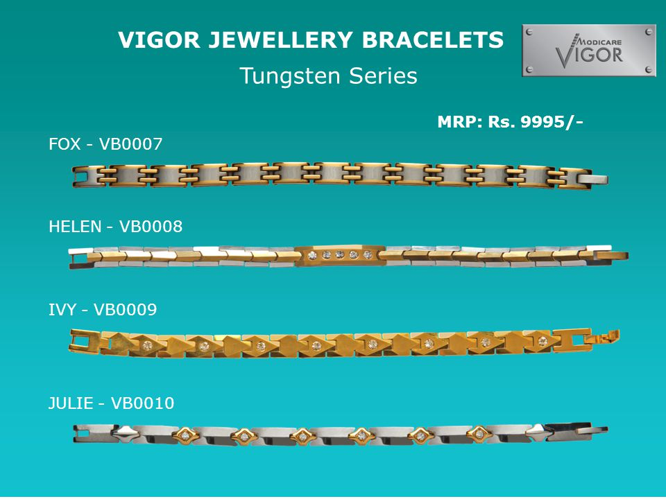VIGOR JEWELLERY BRACELETS Tungsten Series