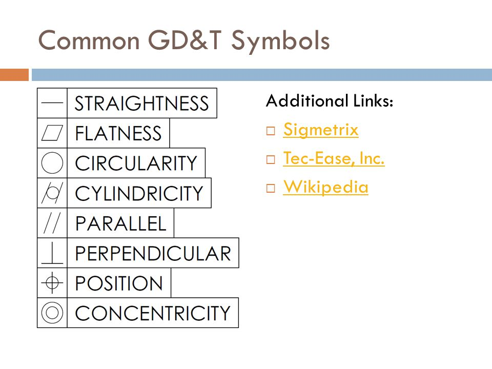 Common GD&T Symbols Additional Links: Sigmetrix Tec-Ease, Inc.