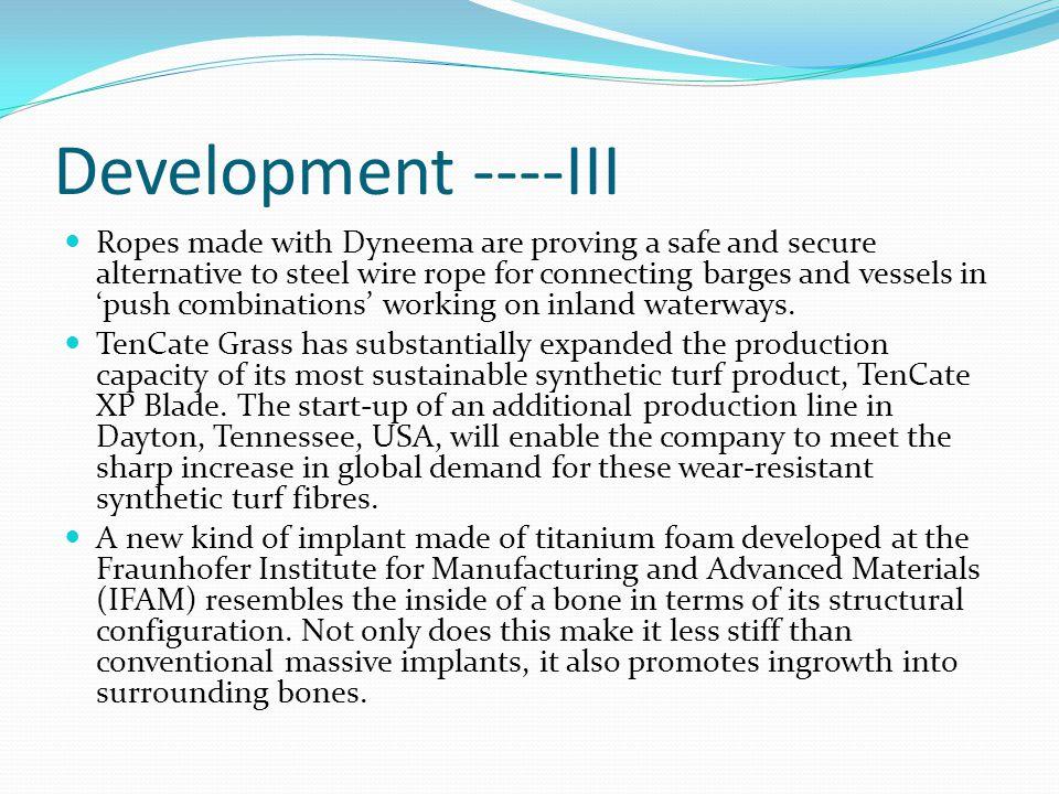 Development ----III