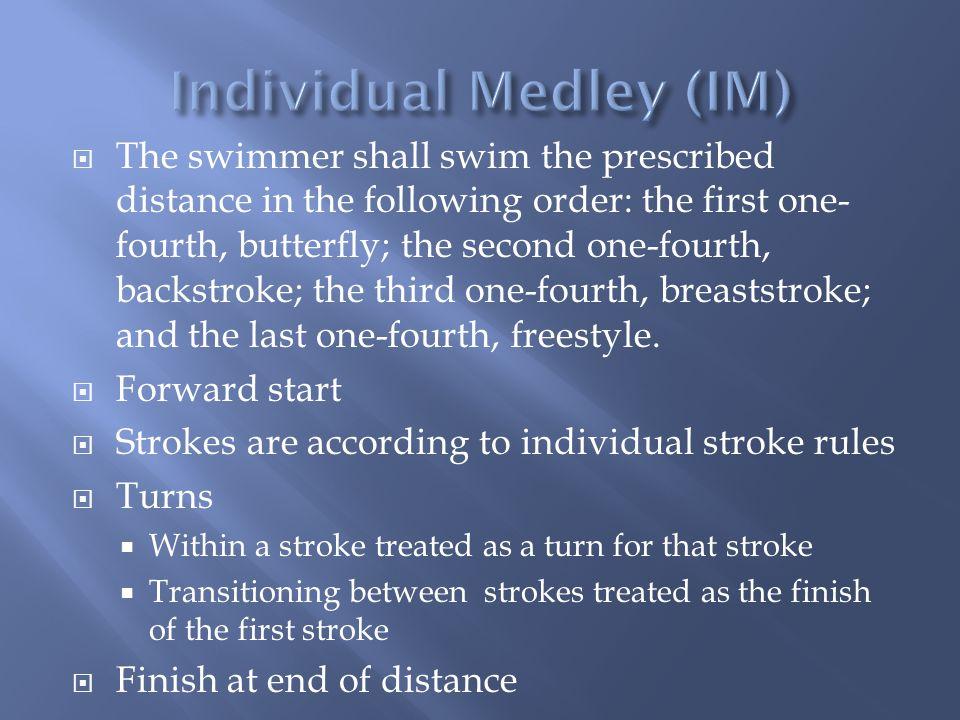 Individual Medley (IM)