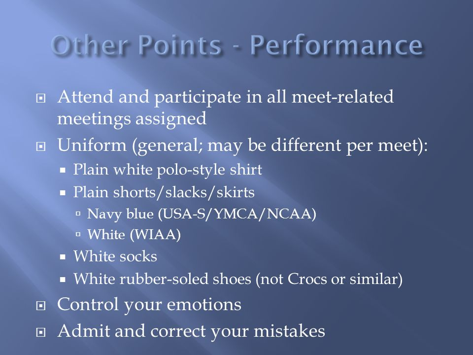 Other Points - Performance