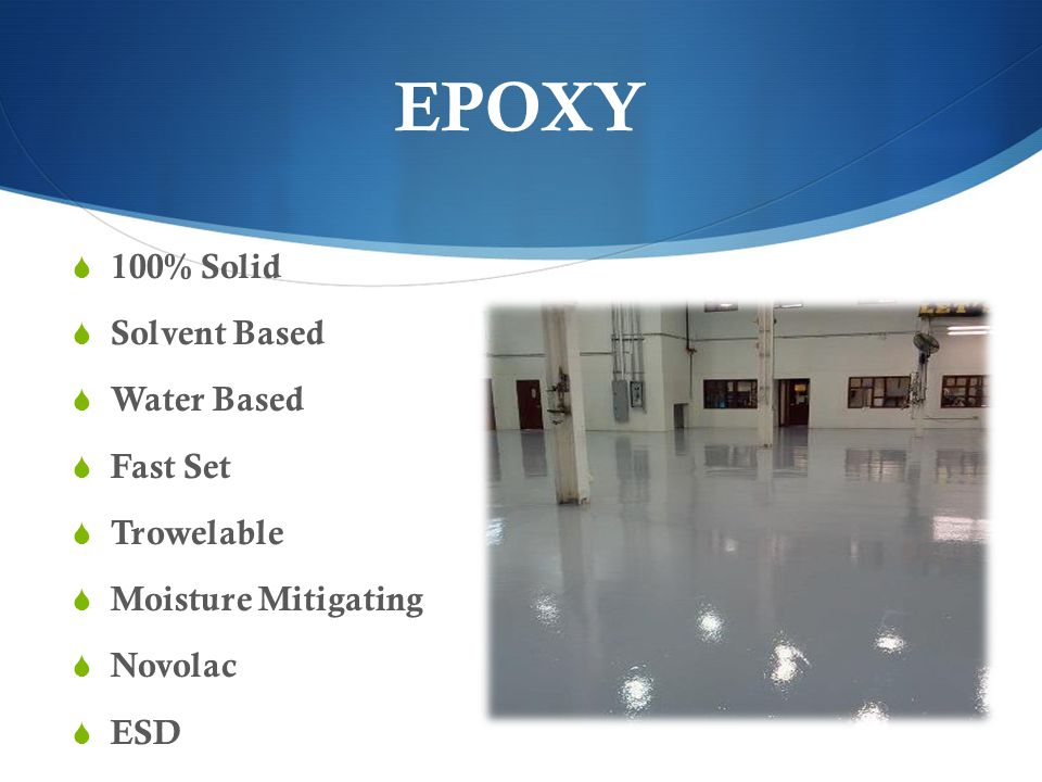 EPOXY 100% Solid Solvent Based Water Based Fast Set Trowelable