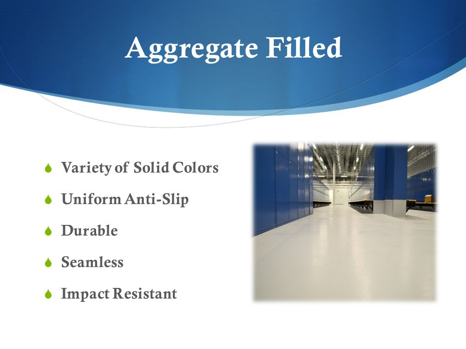Aggregate Filled Variety of Solid Colors Uniform Anti-Slip Durable