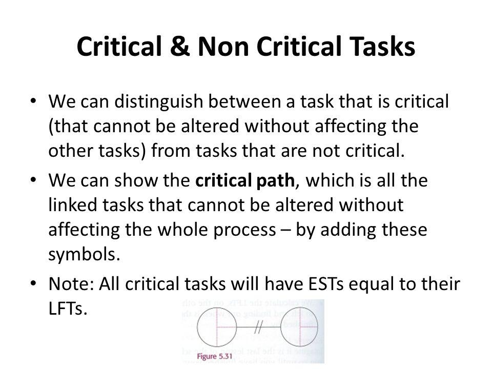 Critical & Non Critical Tasks