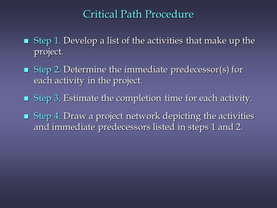 Critical Path Procedure