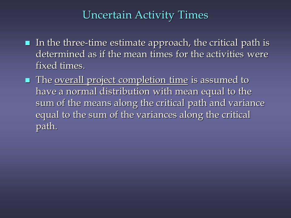 Uncertain Activity Times