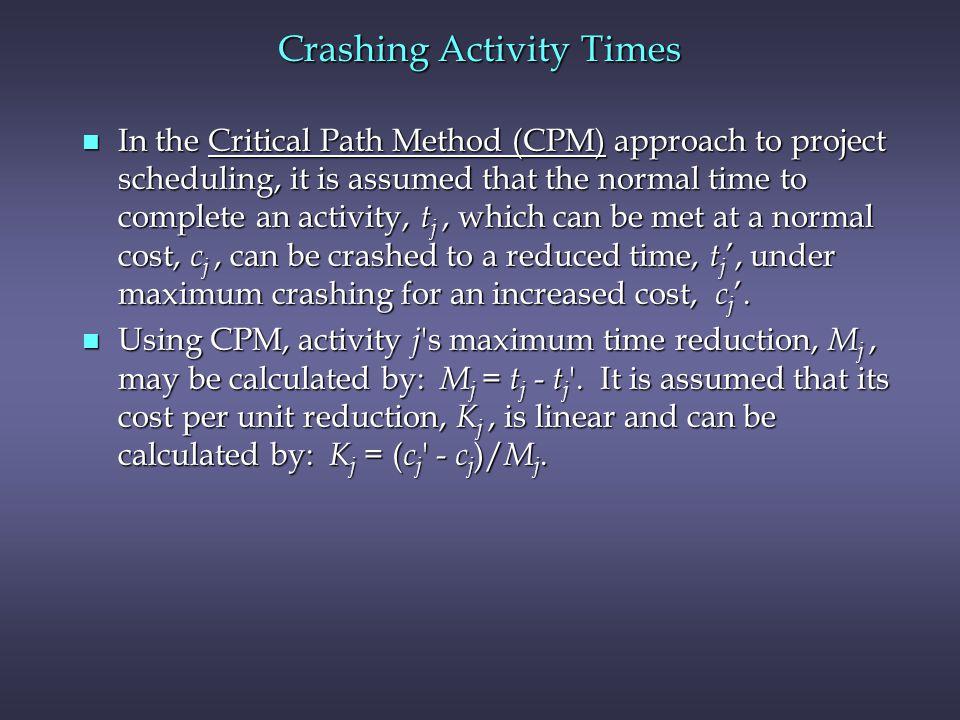 Crashing Activity Times