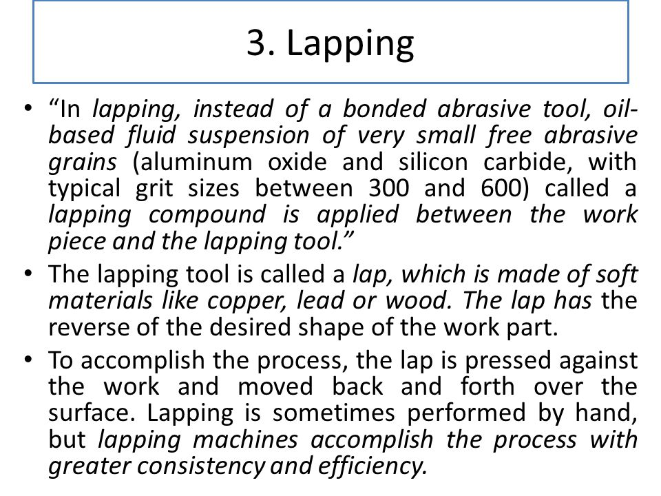3. Lapping