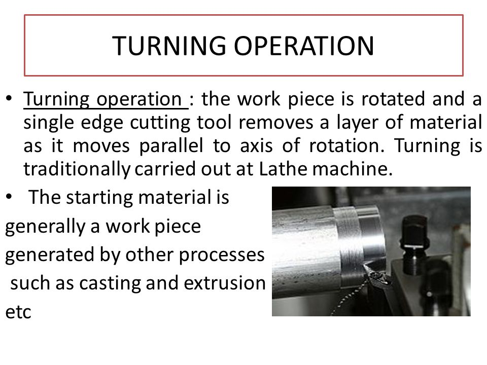 TURNING OPERATION