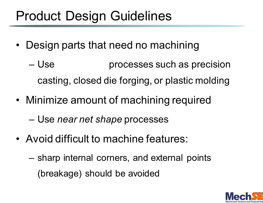 Product Design Guidelines