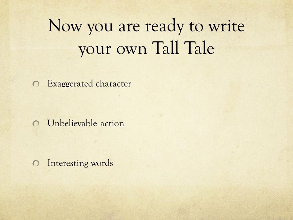 Thematic Units - Tall Tales - Fables - Myths