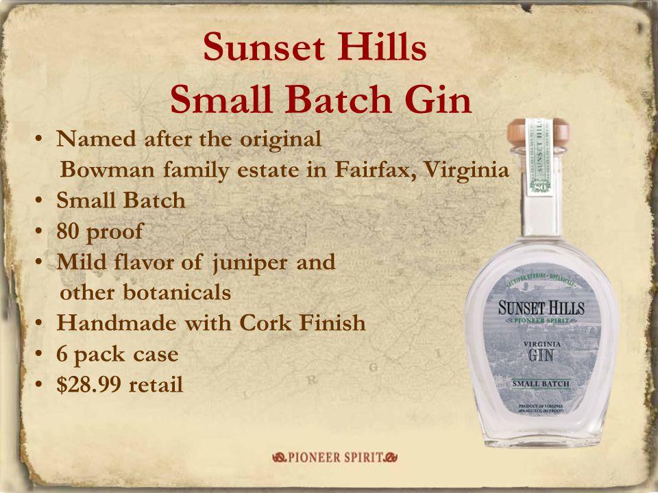 Sunset Hills Small Batch Gin