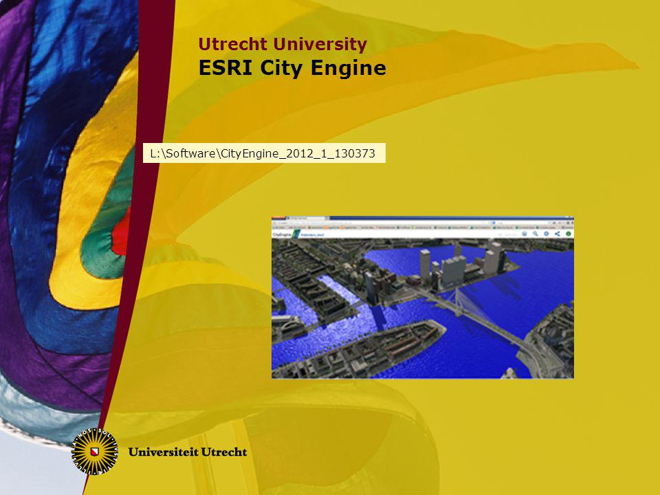 ESRI City Engine L:\Software\CityEngine_2012_1_130373