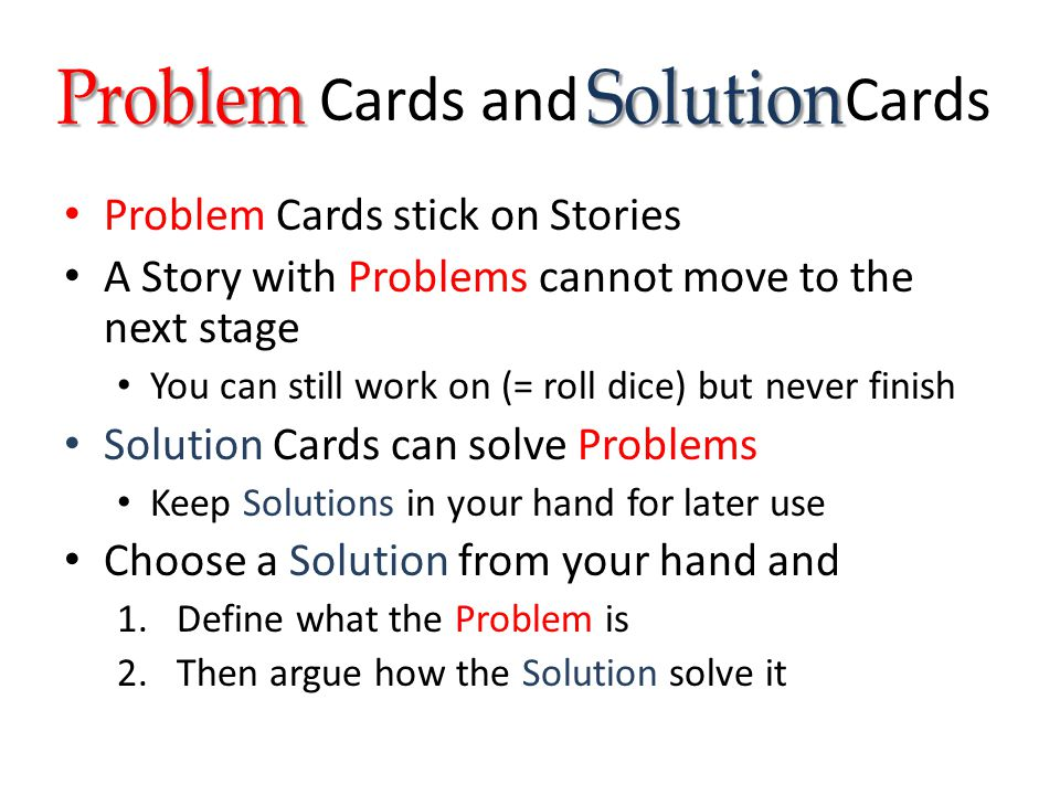 Cards and Cards Problem Solution Problem Cards stick on Stories
