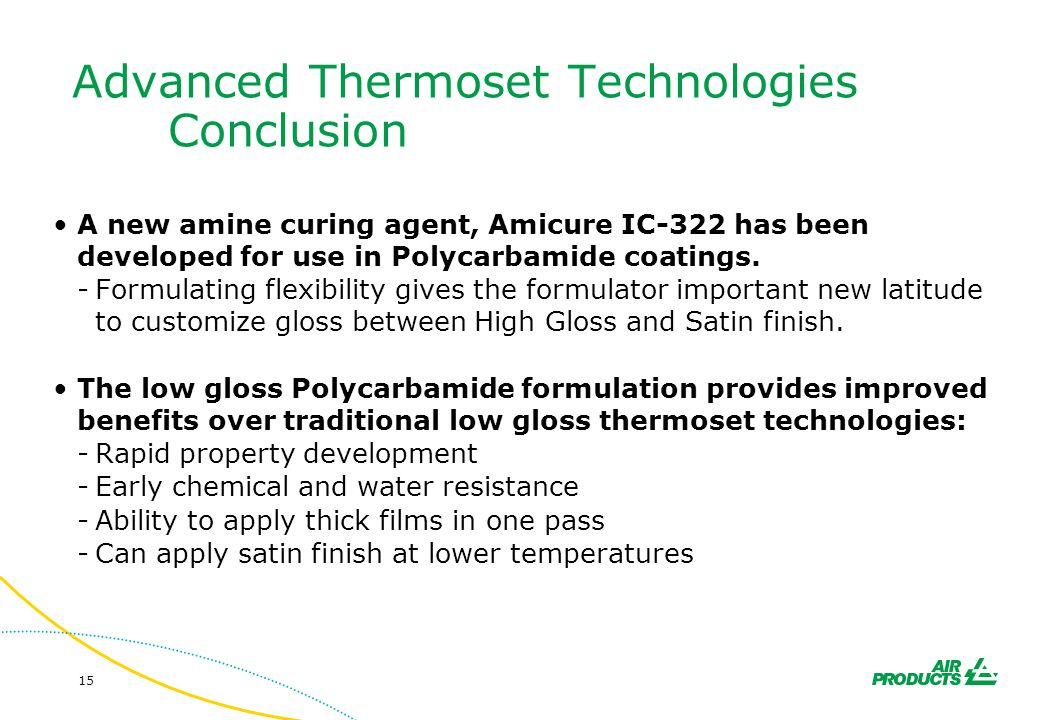 Advanced Thermoset Technologies Conclusion
