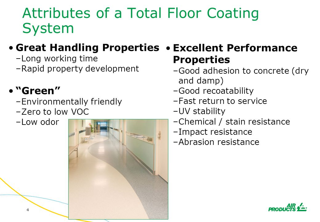 Attributes of a Total Floor Coating System