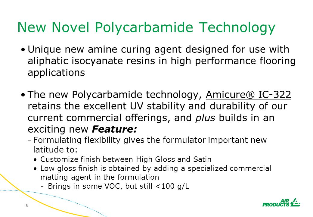 New Novel Polycarbamide Technology