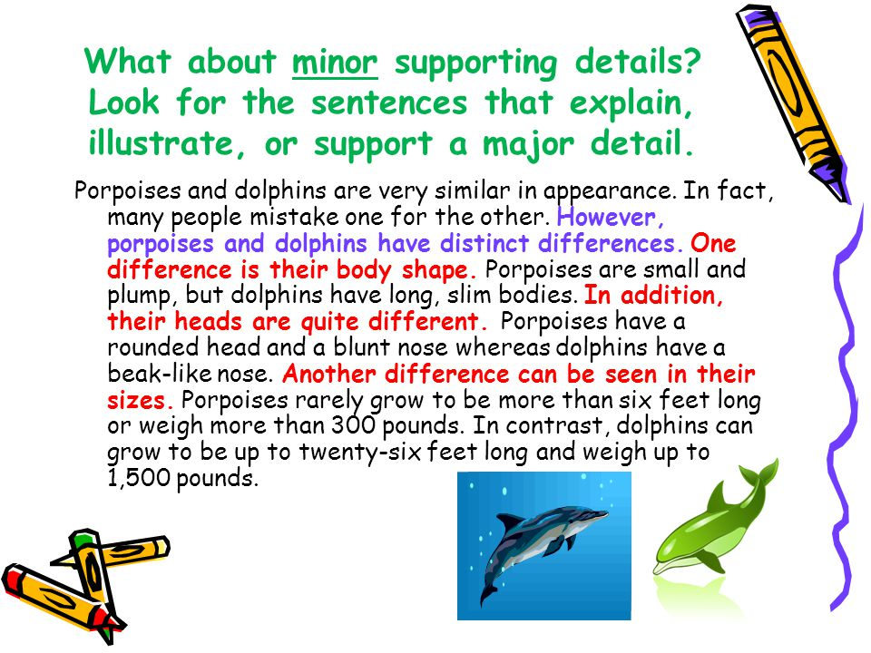 What about minor supporting details