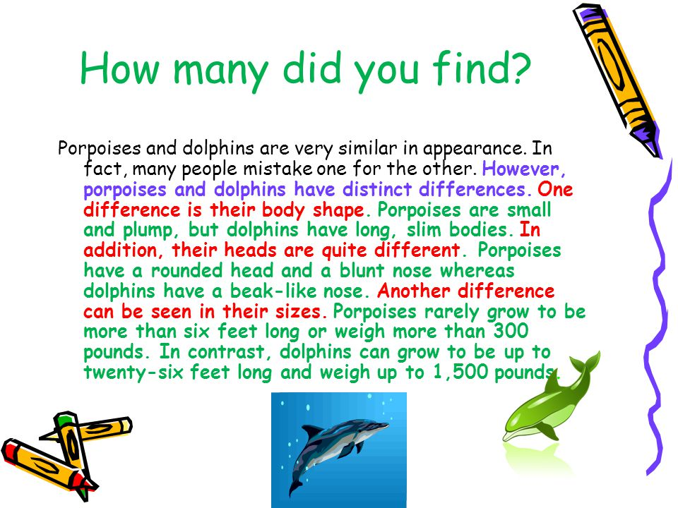 How many did you find