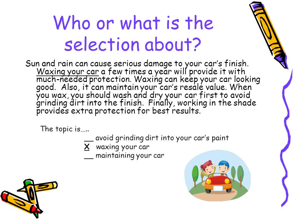 Who or what is the selection about
