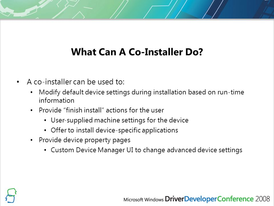 What Can A Co-Installer Do